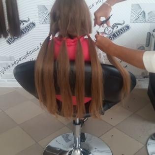 Срезаем волосы у девочки 12лет_1