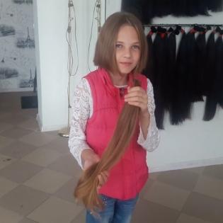 Срезаем волосы у девочки 12лет_2